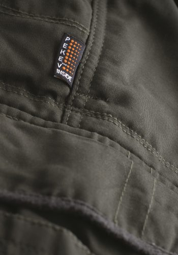 Mens Motorcycle Cargo Pants - Tan - with PEKEV armor lined 100% cotton - additional Zipper 2