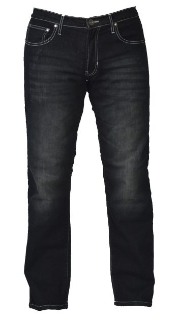 Men Motorcycle Jeans - Black Bird