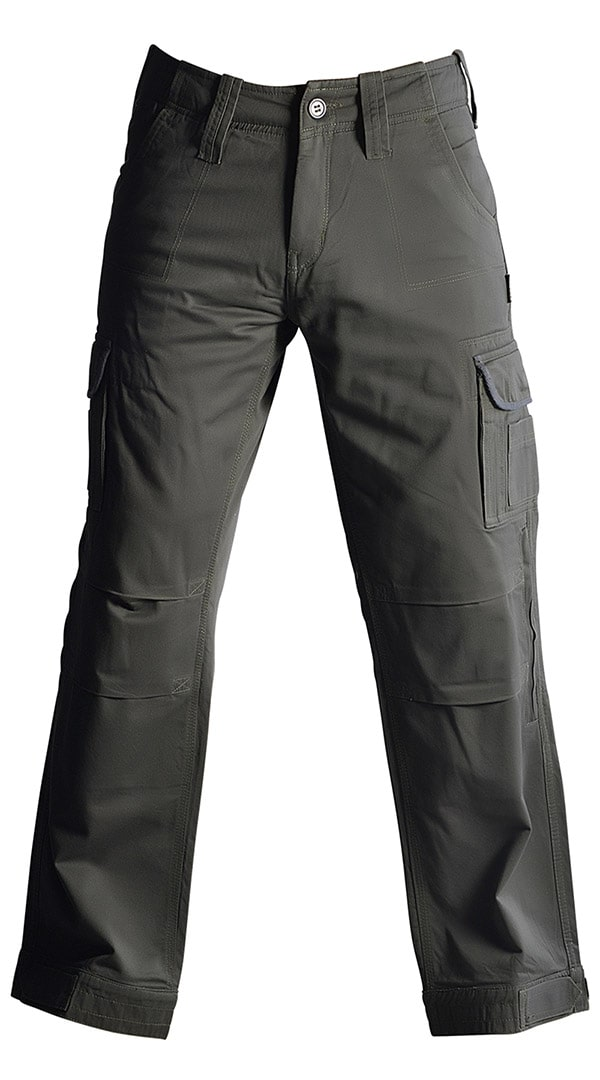 Mens Motorcycle Cargo Pants - Grey - with PEKEV armor lined 100% cotton