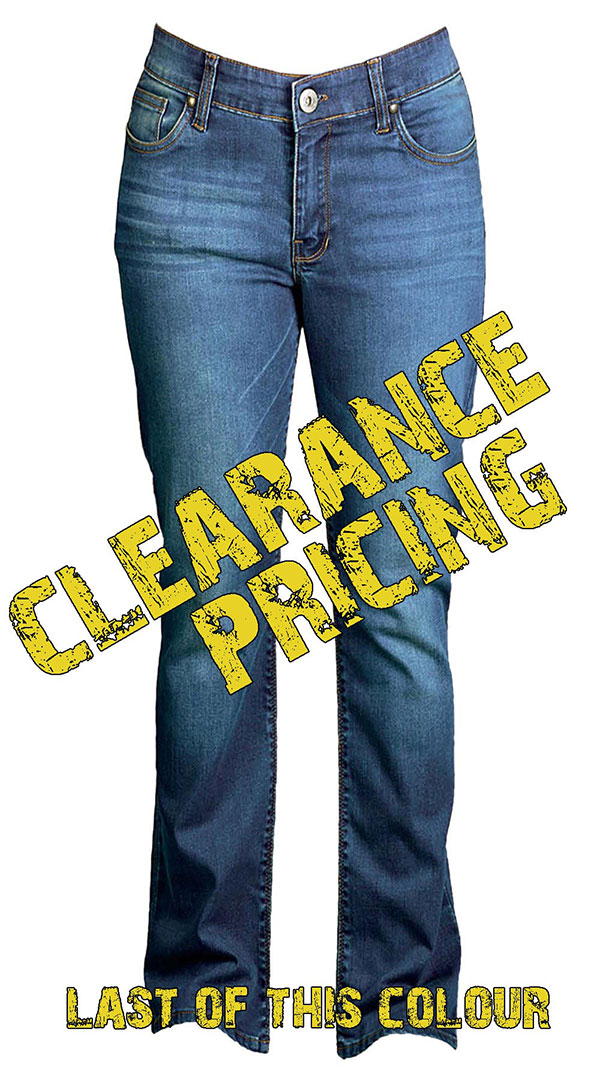 Womens motorcycle Jeans with armor - Medium Blue