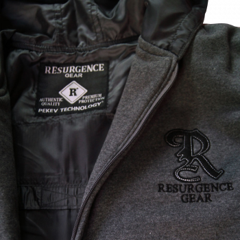 Authentic Motorcycle Armored Hoodie NZ - Charcoal - fully PEKEV® lined.