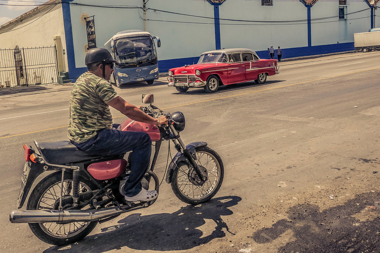 Cuban guy in Resurgence Gears, Pekev® Lite, Dark Blue motorcycle jeans - Picture by Dean Saffron 4