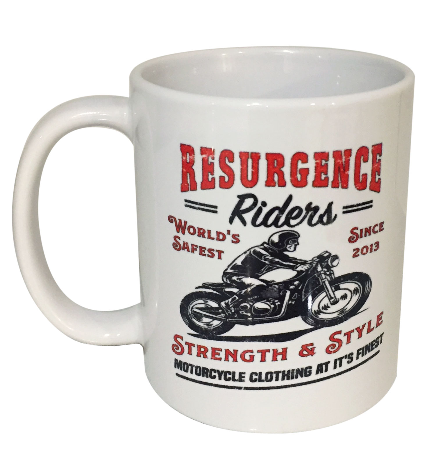 motorcycle mug - strength and style
